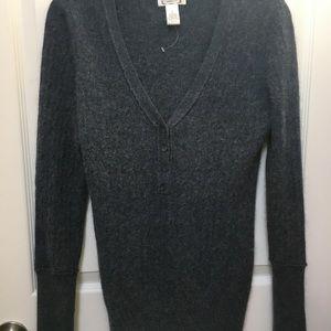 Angora rabbit and lambs wool v neck sweater